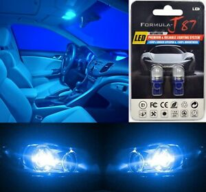 LED 5050 Light Blue 168 10000K Two Bulbs License Plate Tag Replace Fit SMD JDM
