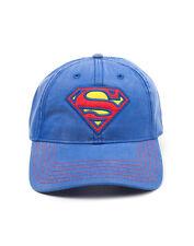 Official Superman - Classic Logo - Blue Snapback Adjustable Cap