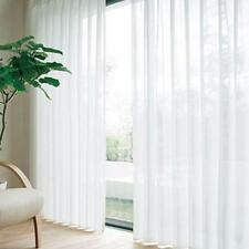 White Floral Tulle Voile Door Window Curtain Drape Panel Sheer Scarf Divider DI