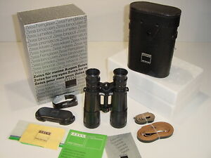 Vintage NOS 1982 Zeiss Dialyt 7x42B GA T* Binoculars Mint in Box Western Germany