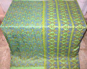 Pure silk Antique Vintage Sari EXOTIC 4Y S6 318 Yellow Grey UK #ABCKG