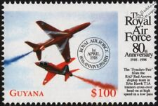 BAe HAWK T1A Red Arrows Aircraft Stamp (1998 RAF 80th Anniversary)