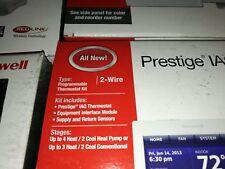 Honeywell Prestige 2 wire IAQ Program Thermostat Kit YTHX9421R5085WW Lot of 2