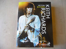 """KEITH RICHARDS(ROLLING STONES) Libro di VICTOR BOCKRIS Ed.ODOYA 2012""""  A1"""