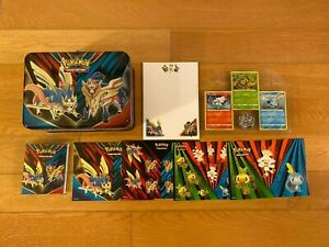 Pokemon Sword & Shield Lunch Box Metal Tin with Promo Cards and Stickers NM/M