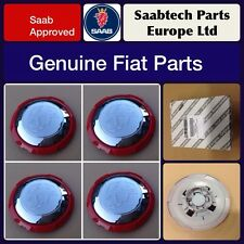 GENUINE FIAT 500 ABARTH ALLOY WHEEL CENTRE CAPS/EMBLEMS X 4 (SET) NEW 51895377