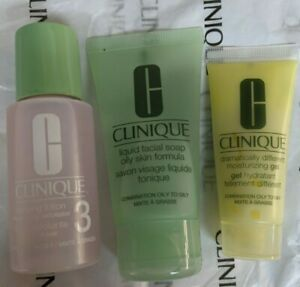 Clinique 3 Step Dramatically Moisturizing Gel+Facial Soap+Clarifying Lotion Oily