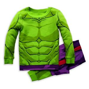 Disney Store Incredible Hulk PJ Pals Pajamas Boys NWT