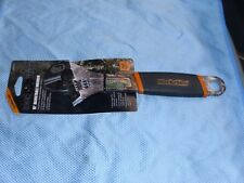 """BLACK RHINO 10"""" ADJUSTABLE WRENCH REALTREE RUBBER HANDLE GRIP NEW"""