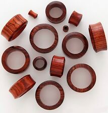 "1 Pair 5/8"" 16mm Red Tiger Wood Organic Natural Tunnels Ear Plugs Gauges 150"