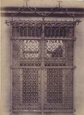 Fenêtre et grille de l' Hôtel Maury Fer forgé Troyes France Vintage ca 1880