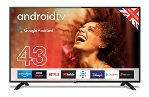 """Cello 43"""" HD Smart Android TV with Freeview Play, Google Assistant &"""