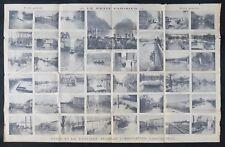 Affiche originale PARIS ET SA BANLIEUE INONDÉE inondation Janvier 1910