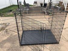 Midwest SL54DD Ginormus Double Door Dog Crate + Pan