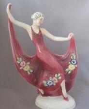 Art Deco Porcelain Lady Goldscheider Era Katzhuette Katzhutte Tettau Germany