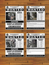 Flyer Set Joker Bane Catwoman Batman Dark Knight Rises Wanted Movie Prop Poster