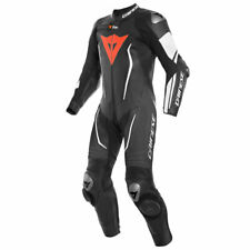 Dainese Misano 2 D-Air Motorcycle One Piece Perforated Leather Suit Black/ White
