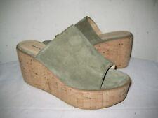 Fabio Cork Wedge Mule Open Toe Sandals Shoes Women's Size 7.5 - 8