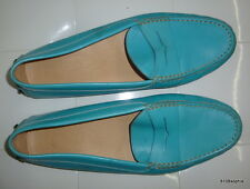 Tod's mocassins cuir bleu turquoise 39 mais taille plutot 38 Tods loafers