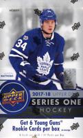2017-18 Upper Deck Hockey - Series 1 - Pick A Player