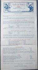 Schaeffer Coal Mining, Bangor, PA 1923 Letterhead / Fuel Bulletin - Pennsylvania