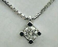 collier girocollo punto luce oro bianco 18kt  diamante naturale  0,22 ct F VS1