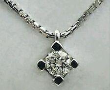 collier girocollo con  punto luce oro bianco 18kt - diamante naturale  0,10 ct