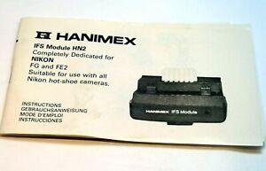 Hanimex IFS HN2 Dedicated Module flash Instruction Guide for Nikon FG FE2