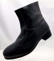 Irvine Park Ankle Boots Zip Gray Leather Pull On Mens Shoes Size 8M NWOB