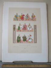 Vintage Print,MAURESQUE,Chromo,Costume Historique,Raceriet,1870-80
