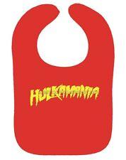 HULKAMANIA BABY BIB HULK HOGAN HULKSTER WWF WRESTLING BIB RED OR BLACK NEW BIB