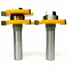 """2 pc 1/2"""" Sh Tongue & Groove Assembly Joint Router Bit Set sct-888"""