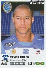 N°450 XAVIER THIAGO # BRAZIL TROYES ESTAC VIGNETTE STICKER  PANINI FOOT 2013