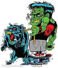 Skateboard Monster Pitbull Sticker Decal Ben Von Strawn Bv28 Frankenstein