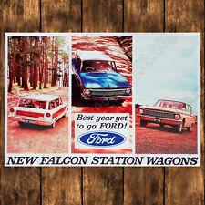 ALUMINIUM SIGN - 200MM X 285MM - 1965 FORD FALCON XP STATION WAGONS