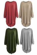 Women's Regular Solid Batwing, Dolman Sleeve Tunic Tops & Blouses