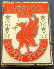 Liverpool FC vintage 70s 80s Inserto Tipo Insignia Broche Pin En Dorado 20mm X 29mm