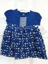 Just One You By Carter's 2-Piece Royal Blue Dress W/Bloomers Size 3 Mos Bnwt!