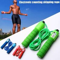 Jump Rope With Counter Sports Fitness Adjustable Fast Speed Skip Skipping Wire