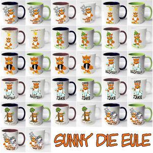 AUSWAHL Tasse Sunny Eule owl Spruch Motive Fun Geschenkidee Keramik Sunnywall®