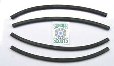 LAMBRETTA BLACK RUBBER FLOOR CHANNEL INSERTS. FOR GP/DL, LI SERIES 3 & SX MODELS