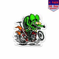 Rat Fink Hot Rod 1 4 Stickers 4x4 Inch Sticker Decal