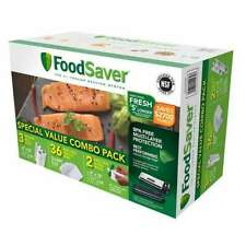"FoodSaver 2 11""x16' Vacuum Rolls 36 One Quart Bags Combo Pack Heat Seal BPA FREE"