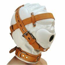 Strict Leather Total Sensory Deprivation White Hood Medium Large Mask Bondage Ki