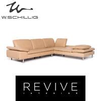 Willi Schillig Loop Leder Ecksofa Beige Sofa Funktion Couch #12145