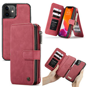 2IN1 Detachable Magnetic Wallet Leather Cases for Apple iPhone 5 6 6S 7 8 Plus