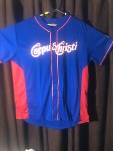 """Corpus Christi Hooks Jersey Blue Red White Adult X-Large Chest-52"""" Length-32"""""""