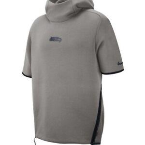 Nike Seattle Seahawks Sideline Repel Short Sleeve Pullover Hoodie AR6105-021