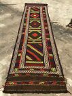 Authentic Hand Knotted Suzani Kilim Kilm Wool Area Runner 9 x 2 Ft (2816 HMN)