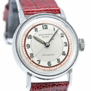 MOVADO ACVATIC 8409 Cal.150MN Manual Vintage Watch 1940's Overhauled